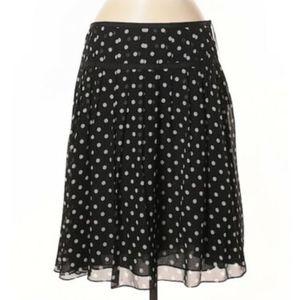 Lauren Ralph Lauren Silk BlackWhite PolkaDot Skirt
